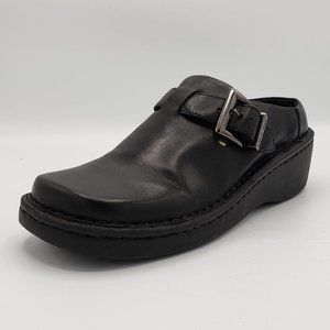 Earth Shoe Gelron 2000 Leather Buckle Clog Shoes 7